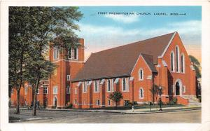 First Presbyterian Church Laurel Mississippi 1930s postcard