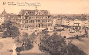 Anvers Belgium, Belgique, Belgie, Belgien Place de la Victoire et Athenee Roy...