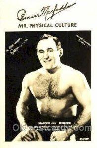 Marvin Atomic Mercer Mr. Physical Culture, Wrestling Unused