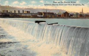 USA Dam on the Beaver River between Beaver Falls and New Brighton Pa. 1911
