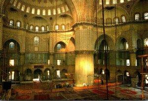 Turkey Istanbul Intrior Of Blue Mosque