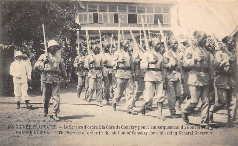 French Guinea Service of order station of Conakry, embarking General Governor