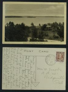 Cameron lake Fenelon Falls Ontario  pmk 1937  G-VG