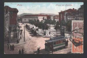 118351 Portugal PORTO Praca da Batalha TRAM Vintage RPPC