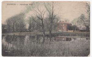 Suffolk; Ipswich, Akenham Hall PPC Unposted, c 1910's,
