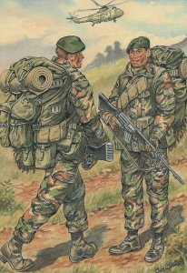 Military Postcard - The Royal Marines, The Falkland Islands, 1982 -  RR8406