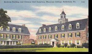 Pennsylvania Bethlehem Archives Building & Colonial Hall Dormitory Moravian C...