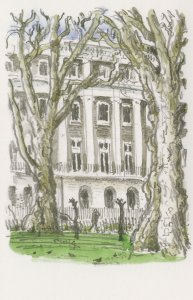 Tavistock Square London Painting Postcard