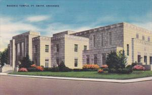 Exterior,  Masonic Temple,  Fort Smith,   Arkansas,   PU_1954