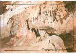 Slovakia, Demänovské jaskyne, Postcard