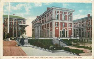 Columbia University New York City~Hall Of Philosophy~Kent & Hamilton Halls~1919