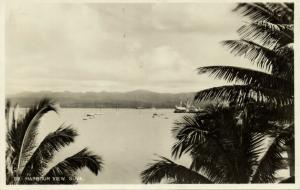 fiji islands, SUVA, Harbour View (1930s) RPPC