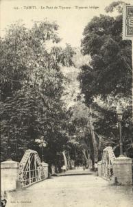 tahiti, TIPAERUI, Bridge Scene (1928) Stamp Cancel