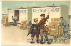 Chocolat Lombart, Advertising Postcard Post Card  Chocolate Lombart