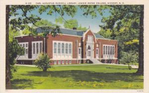 Carl Augustus Rudisill Library, Lendir Rhyne College, Hickory, North Carolina...