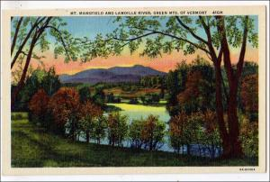 Mt Mansfield & Lamoille River, Green Mts VT