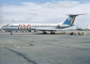 KMV, TU-134A-3, unused Postcard