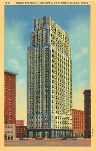 Linen Card of Tower Petroleum Building Dalles Texas TX