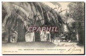 Old Postcard Beaulieu Palm Gardens Reserve
