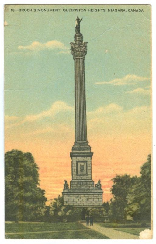 Canada, Brock's Monument, Queenston Heights, Niagara early 1900s unused Postcard