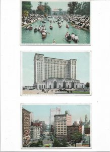 USA Detroit Michigan Postcard Lot of 6     01.14