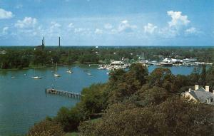 Hampton Virginia Yacht Club Birdseye View Vintage Postcard K61819