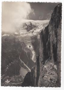 Chamonix Mont Blanc France RPPC Brevent Cable Car Real Photo