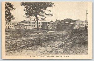 Atlanta GA~Muddy (or Maybe Slushy) Road Back to Camp Gordon Barracks~WWI Era