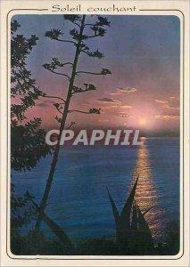 Modern Postcard Sunset in the Mediterranean