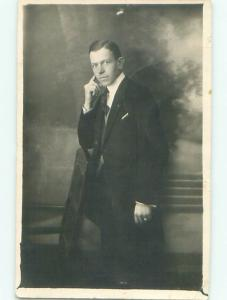 Old rppc MAN - MEN - MALE Possible Gay Interest Postcard AB1740