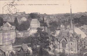 Fraance Fougeres L'Eglise Saint-Sulpice et les Tours du Chateau 1915