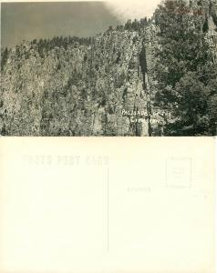 Palisades of the Cimarron River along U.S. Hwy 64, New Mexico NM, RPPC