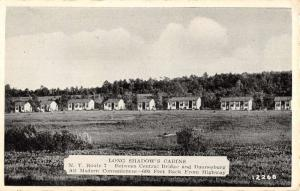 Duanesburg New York Long Shadow Cabins Street View Antique Postcard K70357