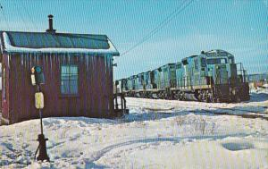 Snow, Train, Boston & Maine 1753, B&M Yard, Mechanicville, New York, 40-60´s