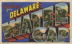 Water Gap, Delaware, USA Large Letter Towns Postcard Postcards  Water Gap, De...