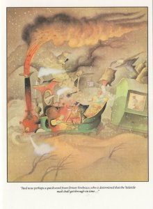 Punch 1951 Magazine Train Disaster Stuck in Sand Greeting Card