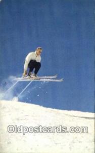 Gelandesprung Skiing Postcard Post Card Old Vintage Antique  Gelandesprung