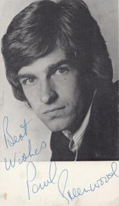 Paul Greenwood 1970s Vintage Hand Signed Undedicated Photo