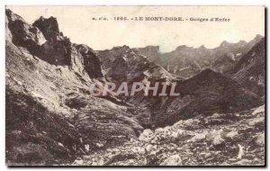 Old Postcard Le Mont Dore Gorges D & # 39Enfer