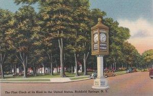 New York Richfield Springs First Clock Of Its Kind In United States sk6958