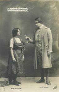 Actors Mimi Marlow & Otto Storm L. Gutmann Wien 1910 Postcard