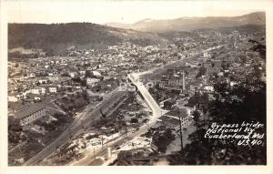 A66/ Cumberland Maryland Md Real Photo RPPC Postcard Birdseye c40s Bridge