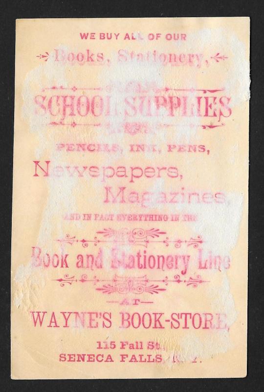 VICTORIAN TRADE CARD Wayne's Bookstore Asian Boy