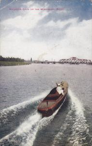 Small Boat, Vacation Days on the Mississippi River, United States, PU-1911