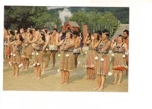 Maori Concert Party in Costume, Action Song, Whakarewarewa Rotorua,  New Zeal...