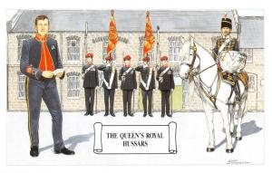 Postcard The Queen's Royal Hussars, Home Headquaters Regents Park by Geoff White