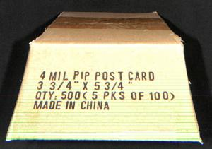 THE BEST Protection of Postcards 4 mil PIP 3 3/4 x 5 3/4  100 Postcard Sleeves