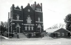 Rockwell Iowa~St Peters Lutheran Church~House Next Door~1950s Real Photo~RPPC