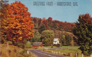 Wisconsin Greetings From Abbotsford Autumn Scene