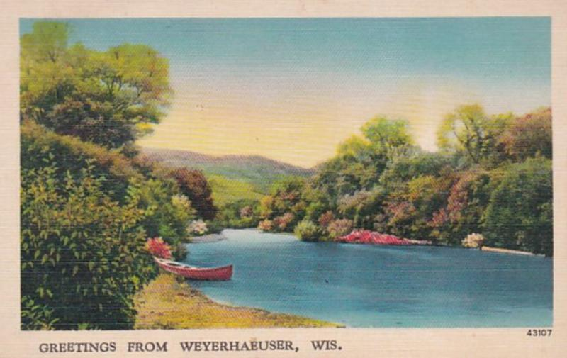 Wisconsin Greetings From Weyerhaeuser 1942
